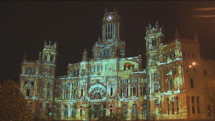 Descubrimos el videomapping navideño del Palacio de Cibeles
