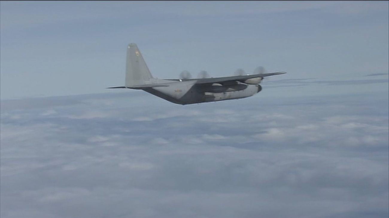 El Ejército del Aire rinde homenaje al mítico avión 'Hércules', jubilado tras 47 años de servicio