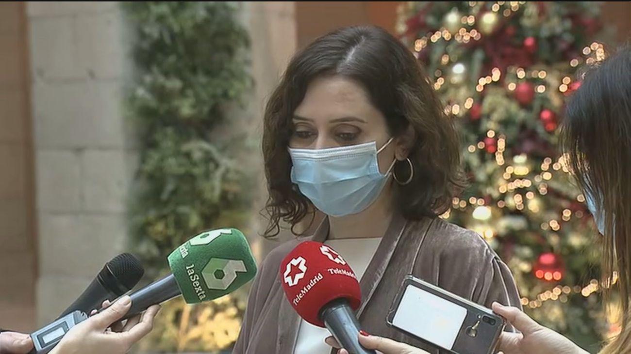 La presidenta regional Isabel Díaz Ayuso