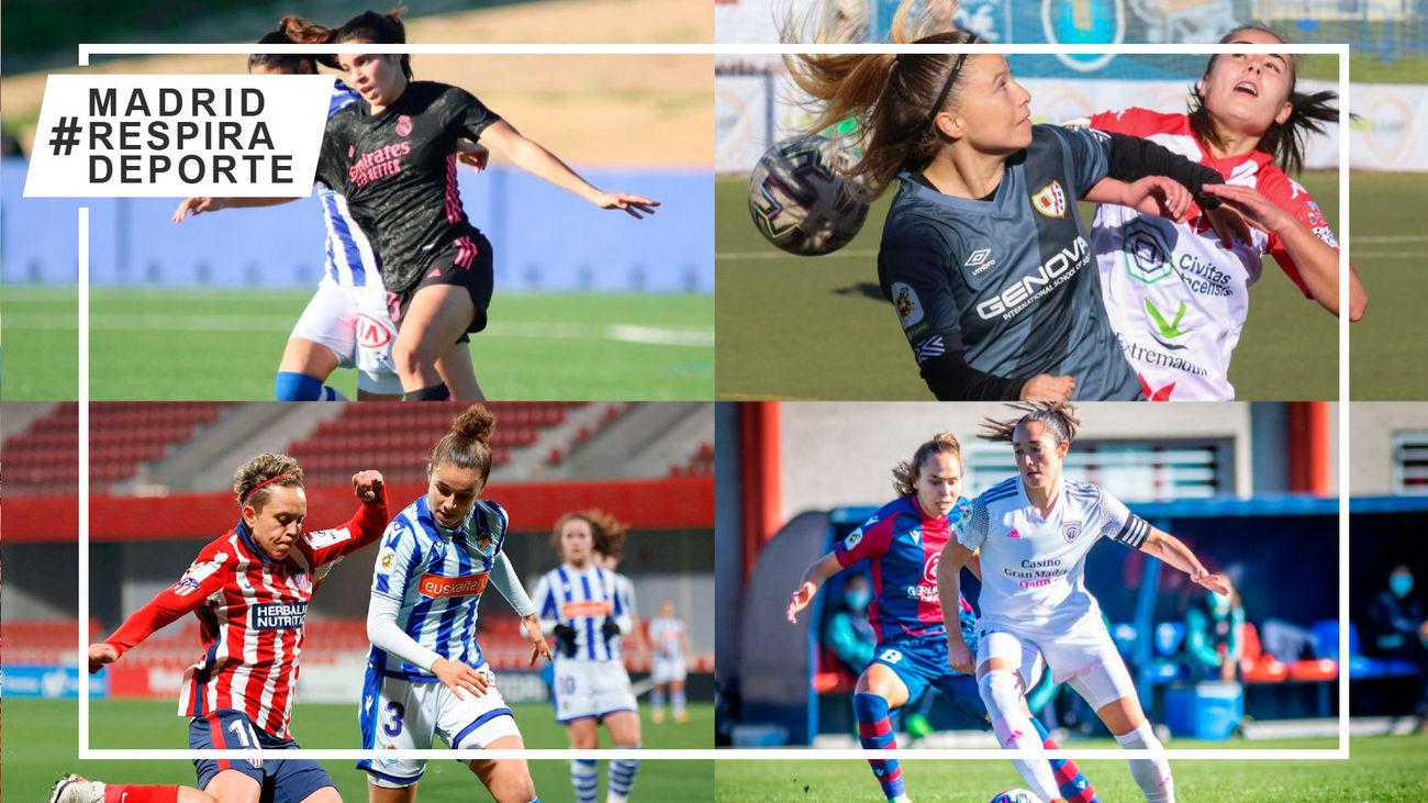 Sporting-Real Madrid, Santa Teresa-Rayo, Real Sociedad-Atlético y Levante-Madrid CFF