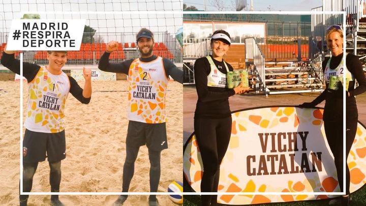 Triunfos de Benlloch-Cartagena y Matveeva-Moreno en la cuarta jornada de la Liga de Invierno Voley Playa