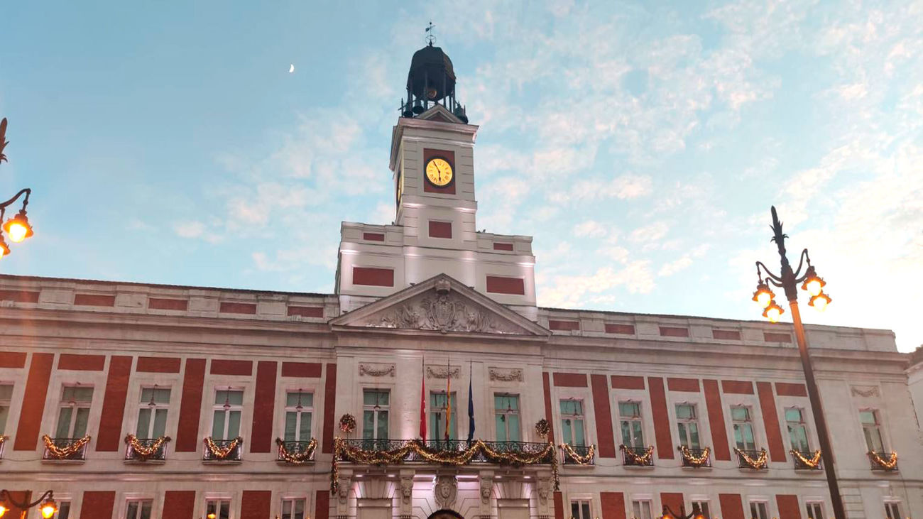 Reloj de la Casa de Correos, en la Puerta del Sol