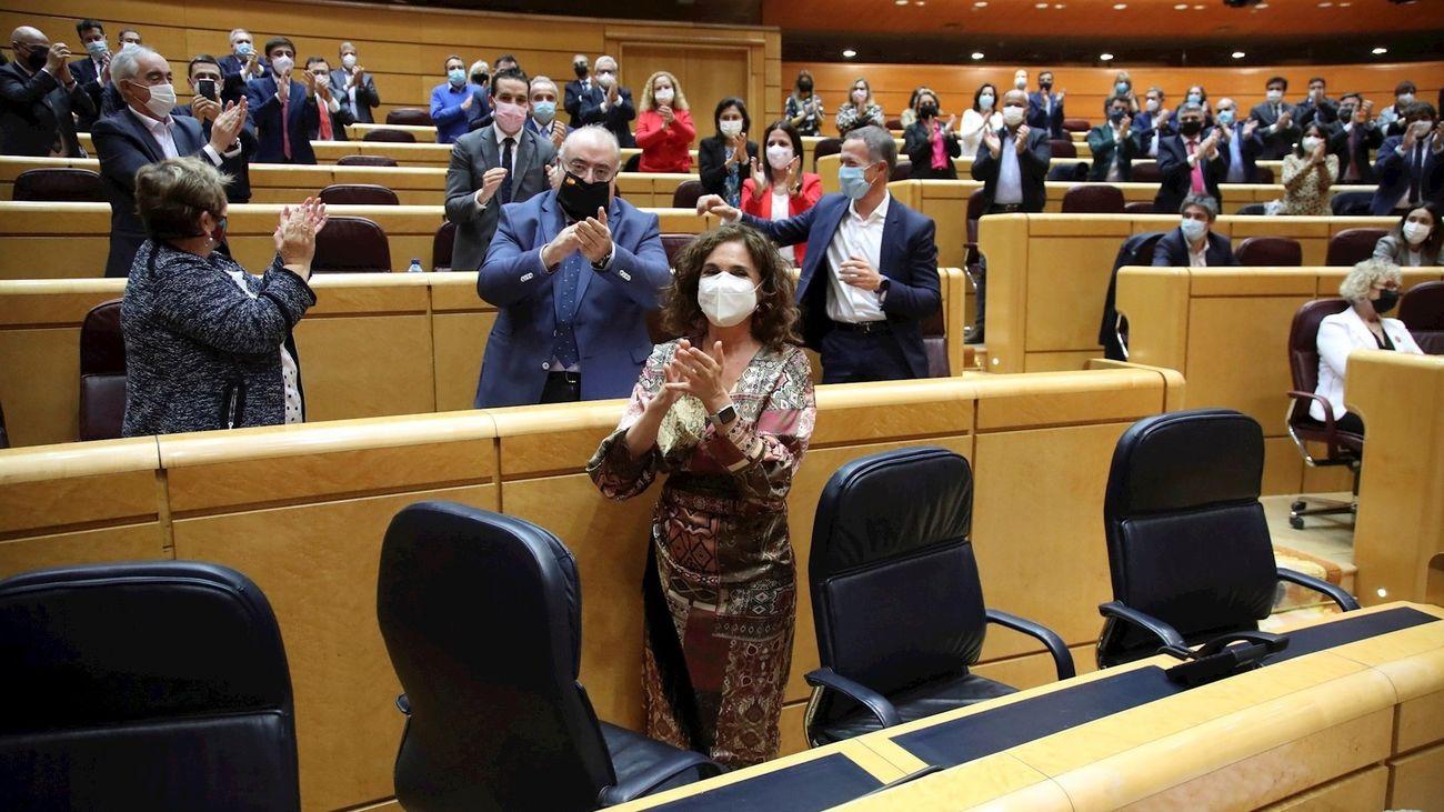 María Jesús Montero en el Senado