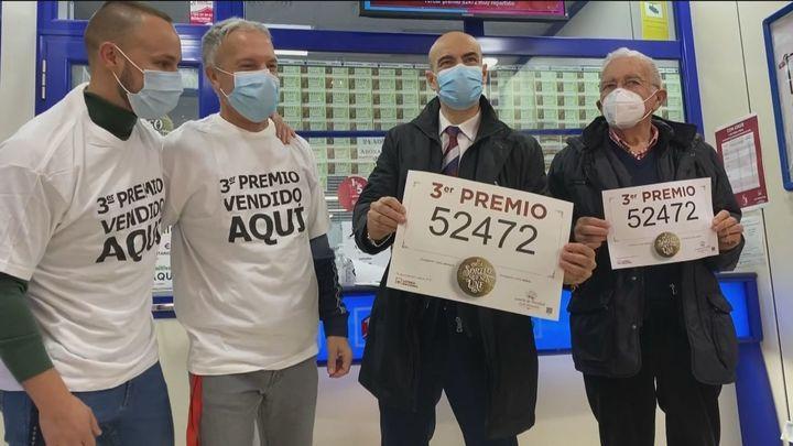 Un tercer premio de la Lotería de Navidad muy repartido en España y vendido también por Doña Manolita
