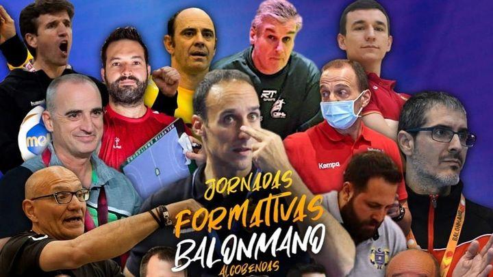Nacho Moyano y Alex Mozas,  ponentes de las 'Jornadas Formativas de Balonmano de Alcobendas'