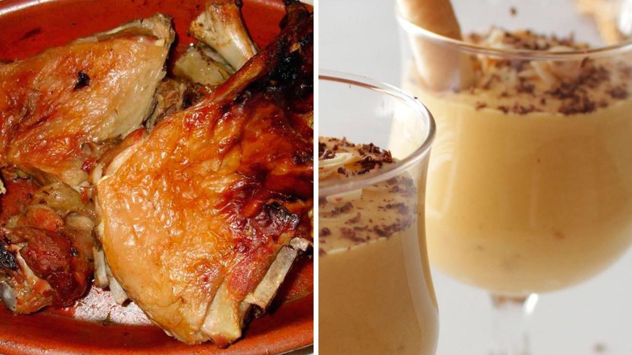 Menú para la cena de Nochebuena: Cordero asado y mousse de turrón