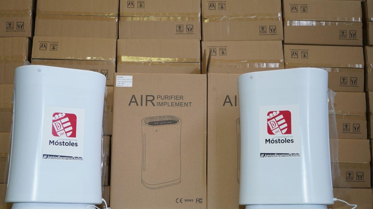 Filtros HEPA que comenzará a distribuir el Ayuntamiento en los centros escolares