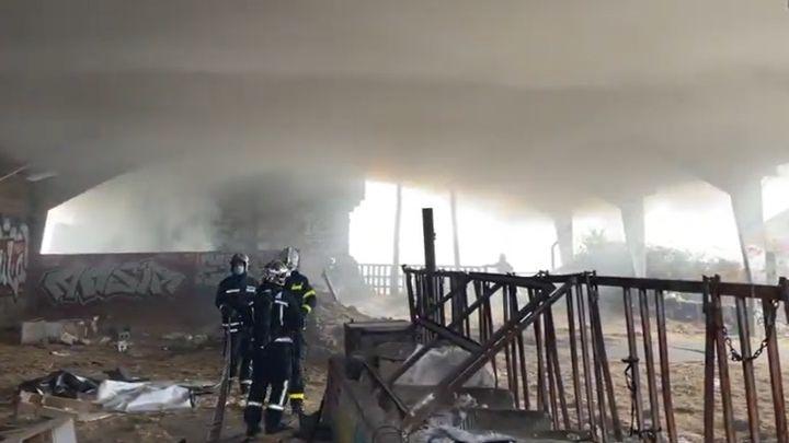 Apagado un gran incendio en Alpedrete cuya columna de humo se veía en varios puntos de Madrid