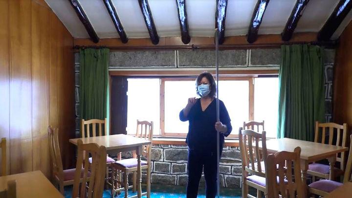 El hotel Pasadoiro, del Puerto de Navacerrada, vacío por la pandemia
