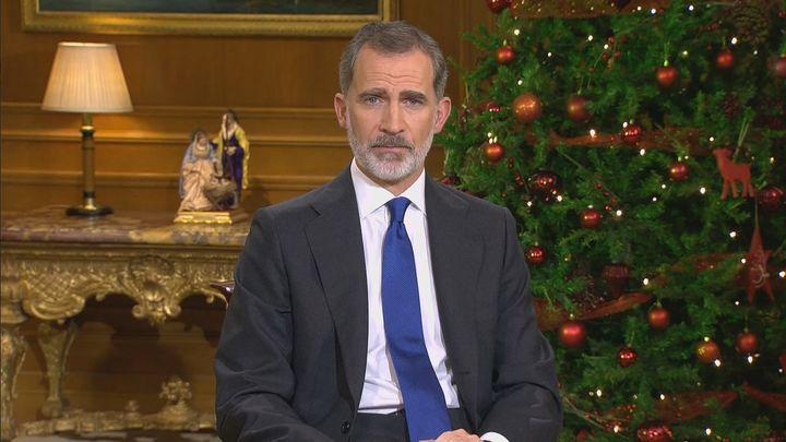 """Felipe VI centra su discurso de Nochebuena en ofrecer esperanza frente al coronavirus: """"España saldrá adelante"""""""