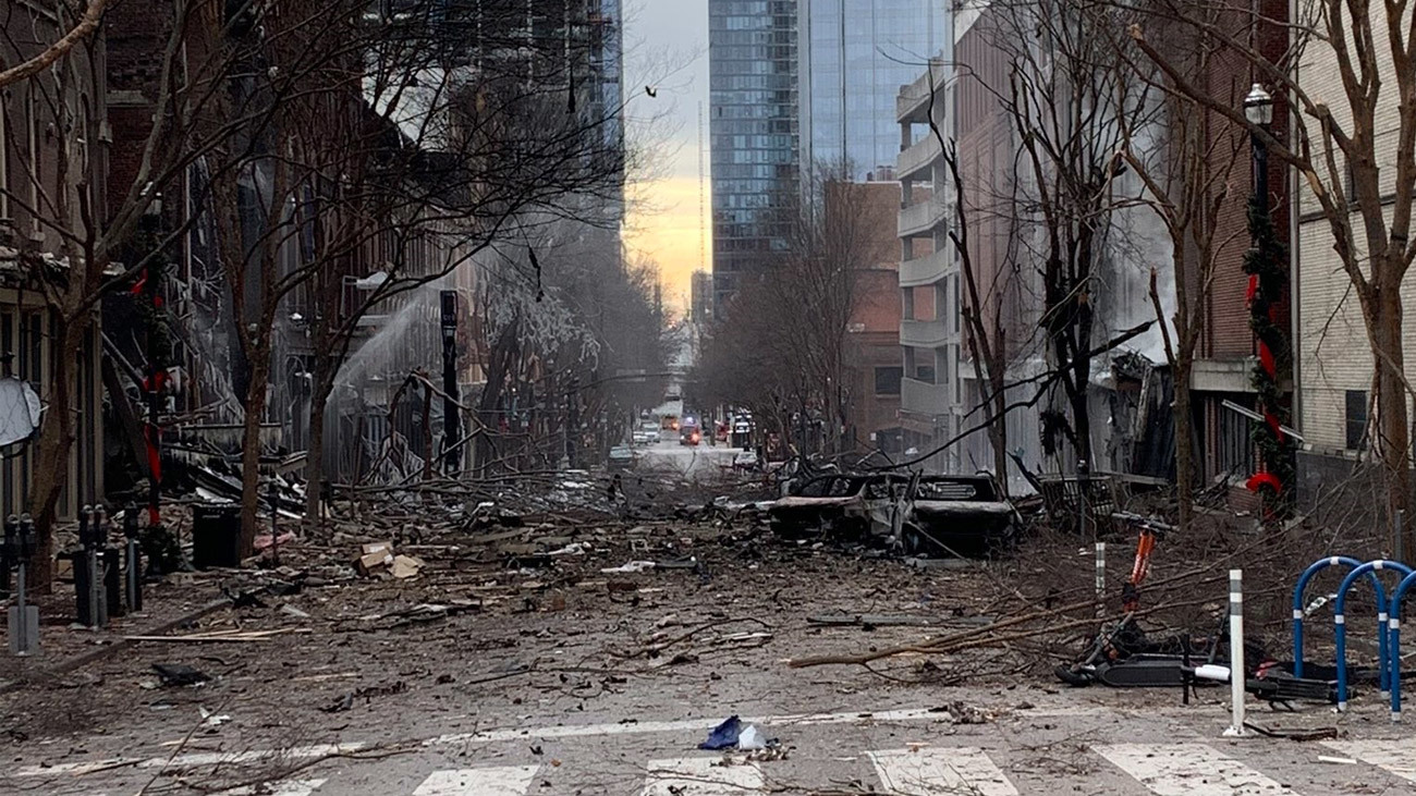 El vehículo que explosionó en Nashville, anunció su detonación en una grabación