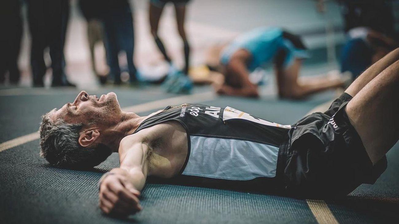 Martín Fiz bate el récord de España de 3000 metros en pista cubierta