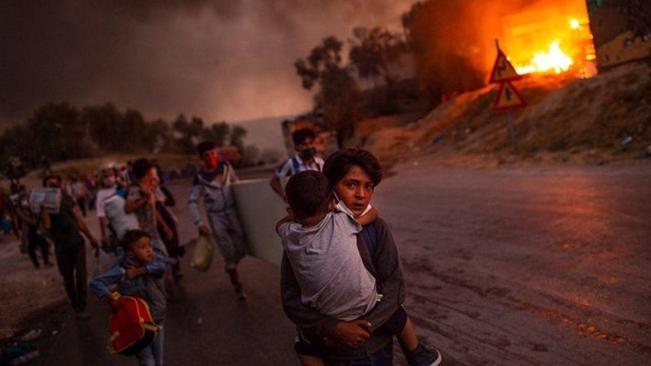 'Las llamas de la miseria', Foto del Año Unicef 2020