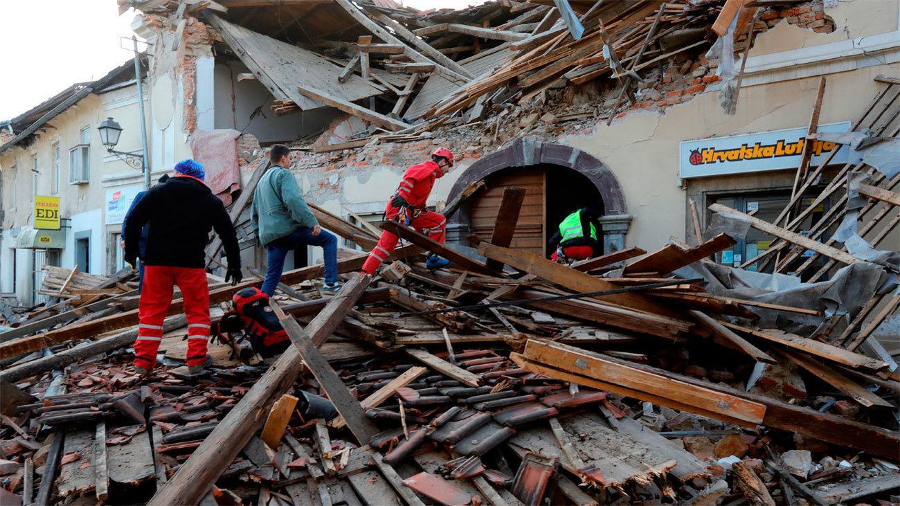 Situación tras el terremoto en Petrinja (Croacia)