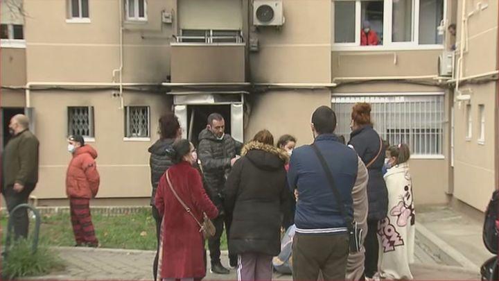 Una persona detenida por el incendio de un edificio en Moratalaz