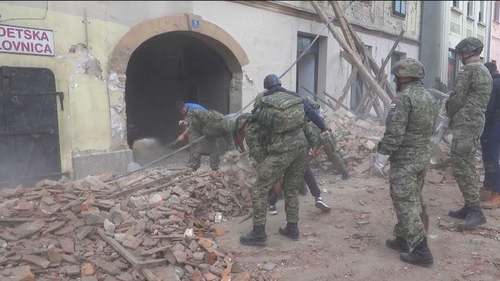 Tres nuevos seísmos de magnitud 4,7, 4,8 y 3,9 en la escala de Richter desatan  la alarma en Croacia
