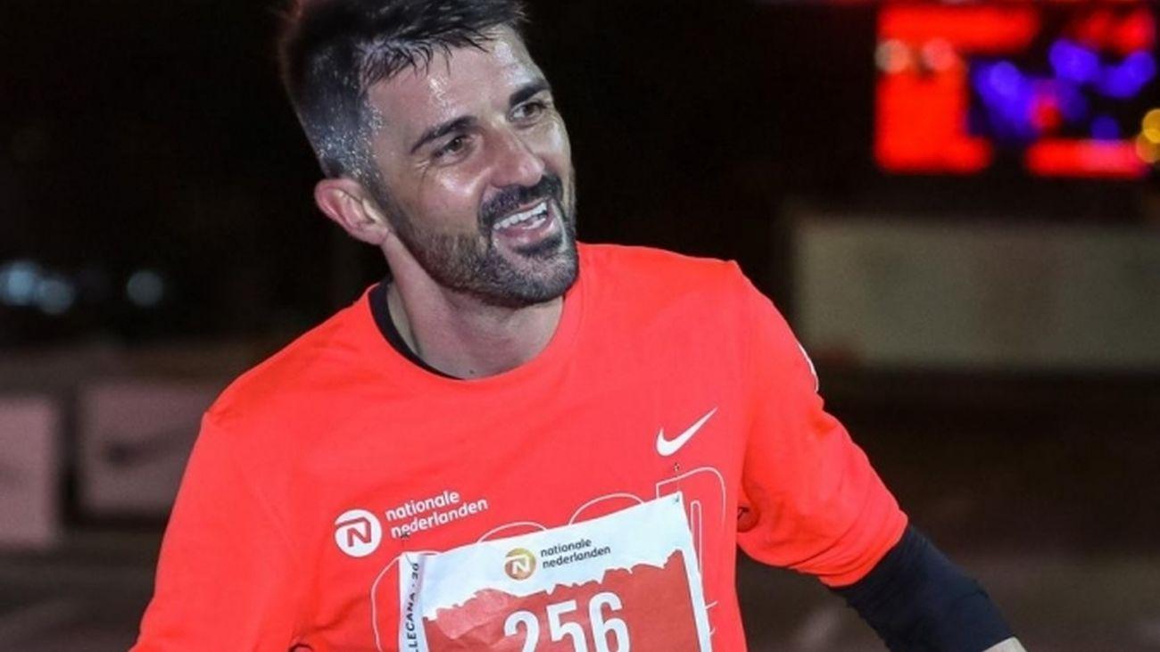 "David Villa se estrenó como corredor en la San Silvestre a un ritmo de 3'43"" el kilómetro"