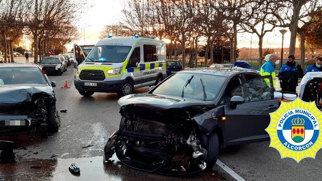 La Policía de Alcorcón investiga los dos accidentes graves de este fín de semana