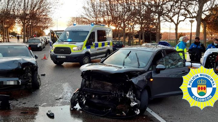 La Policía de Alcorcón investiga los dos accidentes graves de este fin de semana
