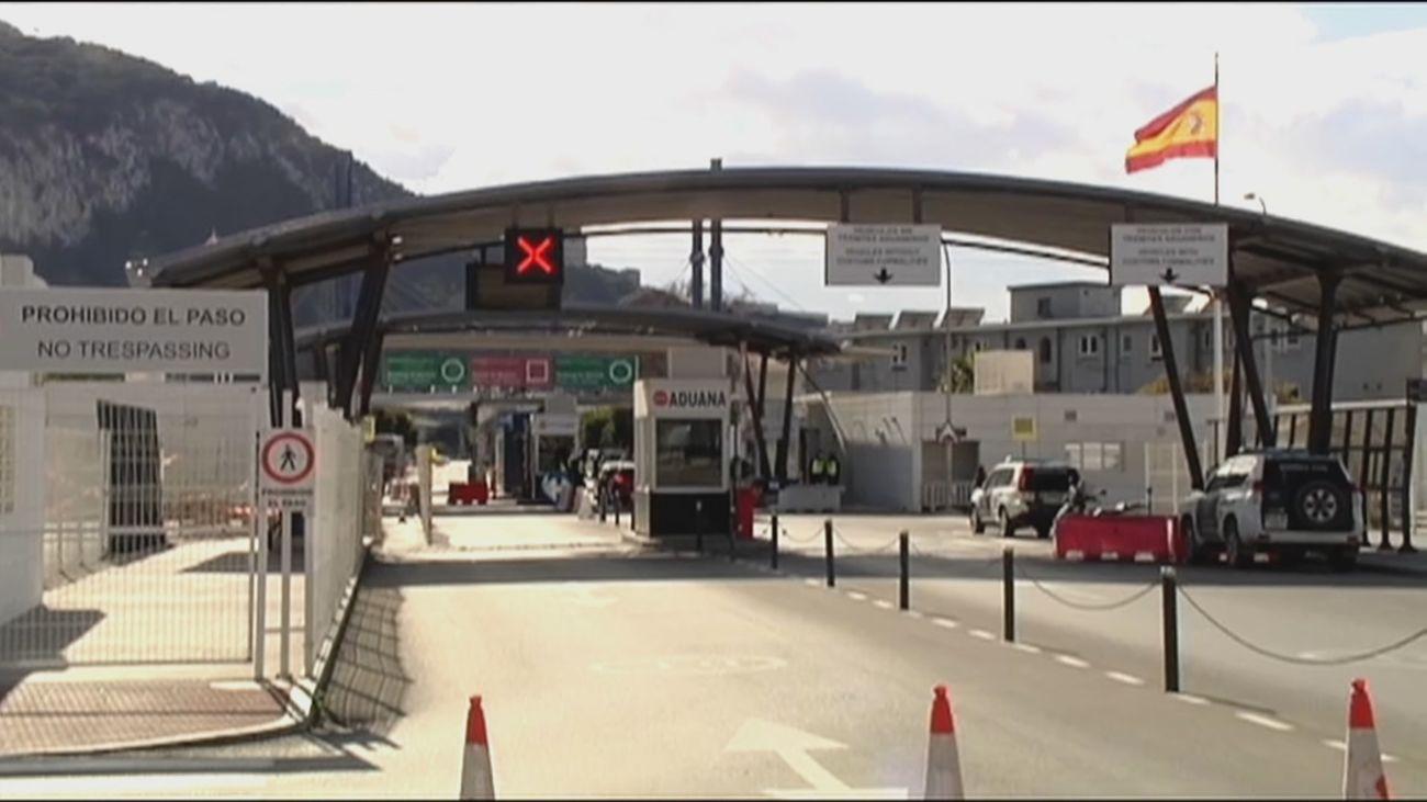 Puesto fronterizo en Gibraltar