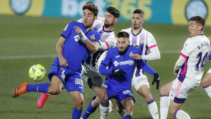 0-1. El Getafe se mete en un lío tras caer con el Valladolid