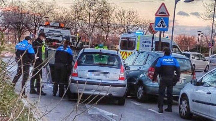 Tres accidentes de tráfico en tres días en Alcorcon