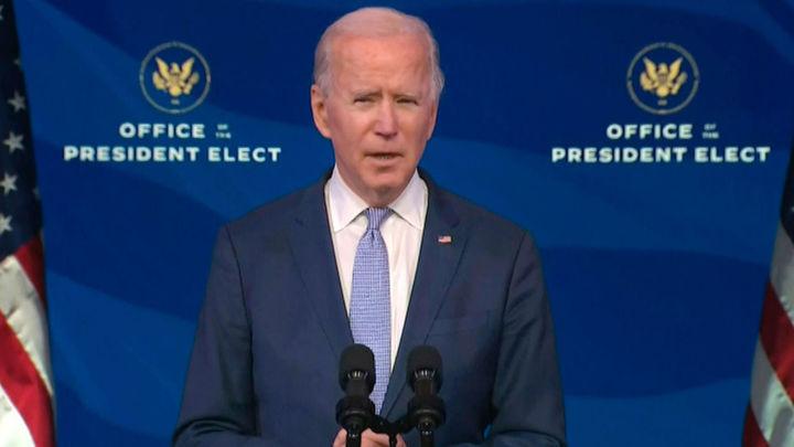 Biden pide a Trump que salga en televisión para que exigir el final al asalto al capitolio