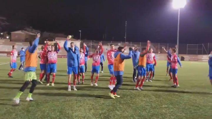 Así fue la fiesta del Navalcarnero tras eliminar de la Copa al Las Palmas