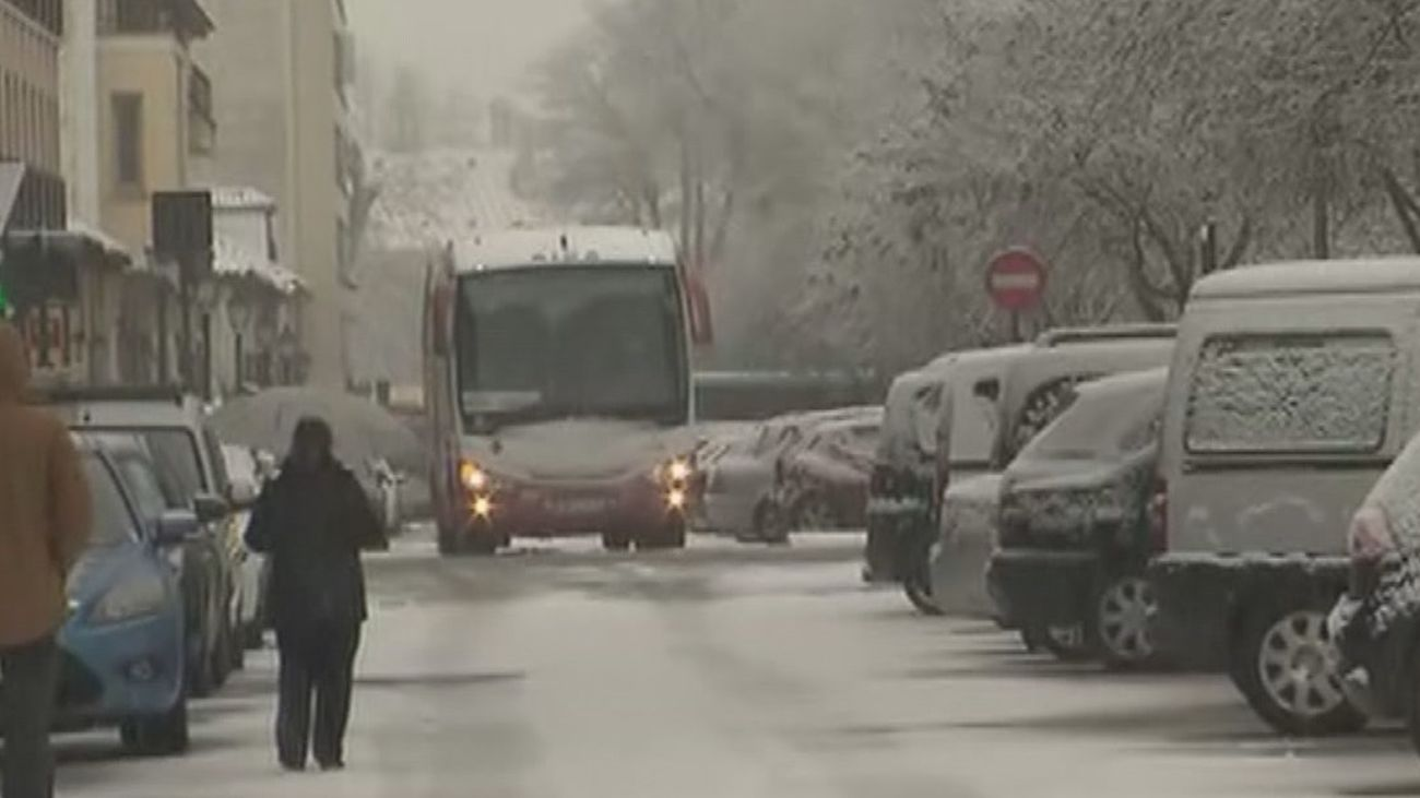 La borrasca 'Filomena' deja mucha nieve en Aranjuez
