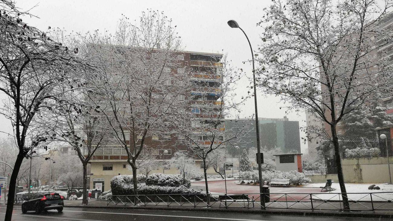 Nieve en Chamartín
