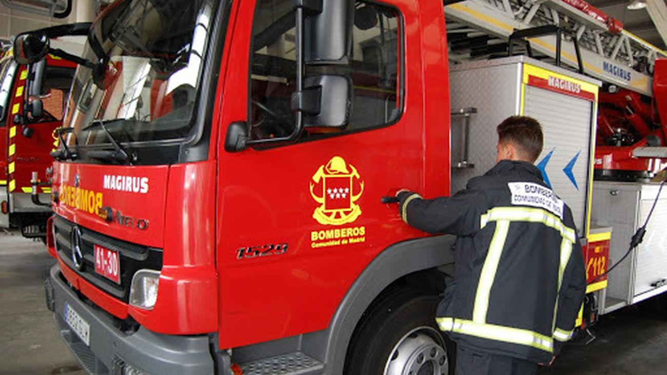 Vehículo de los bomberos de la Comunidad de Madrid
