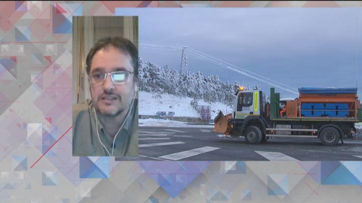 """Cayetano Torres, de Aemet: """"El episodio de nieve más importante en Madrid llegará a partir del viernes"""""""