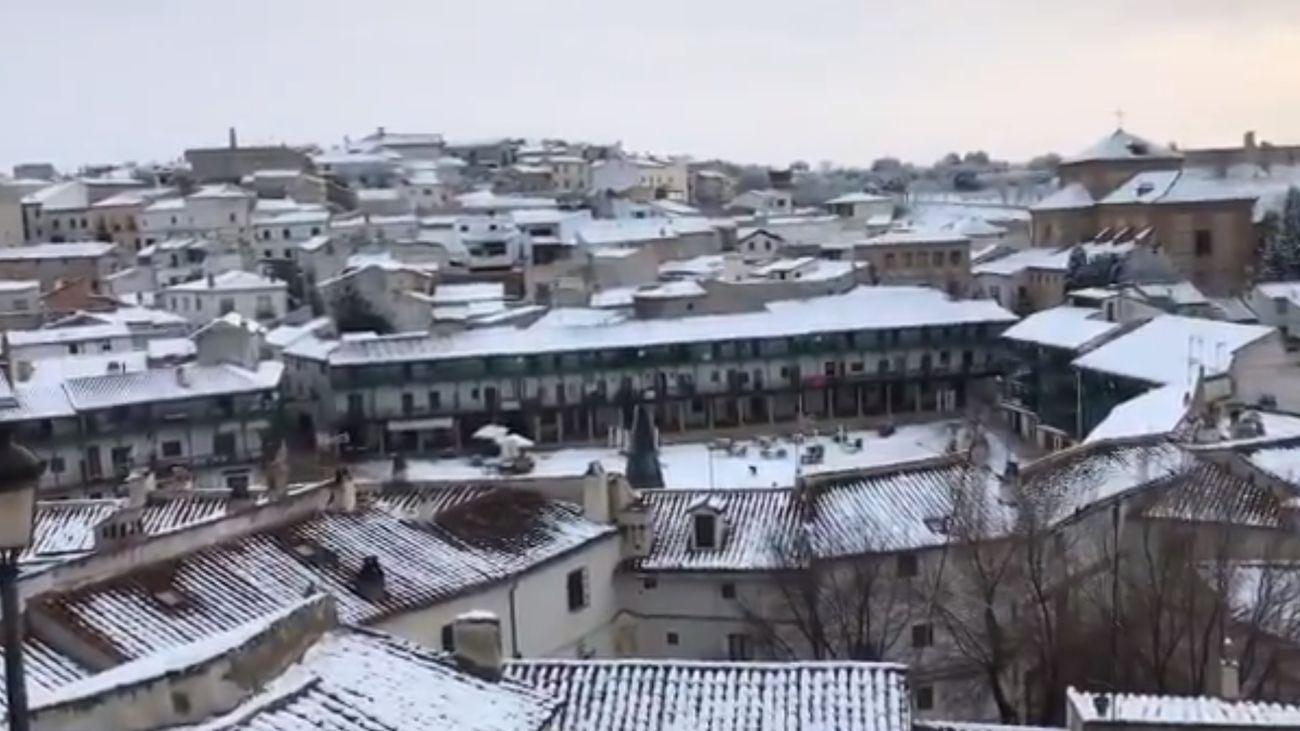 Las imágenes que deja la nieve en Chinchón