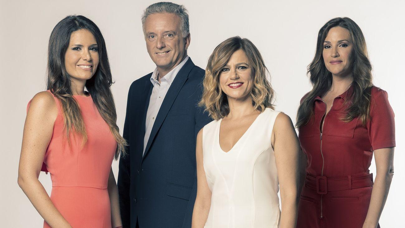 Tania Garralda, Antonio López, Elena Miñambres y Ainhoa González, del Tiempo.