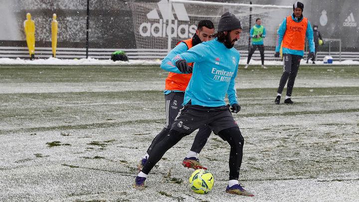 Osasuna-Real Madrid, la nieve como amenaza
