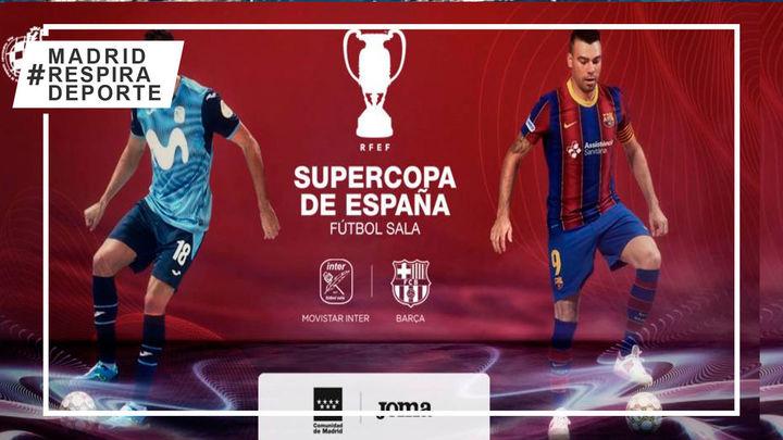 Movistar Inter afronta el lunes 11 la Supercopa de España ante el Barça