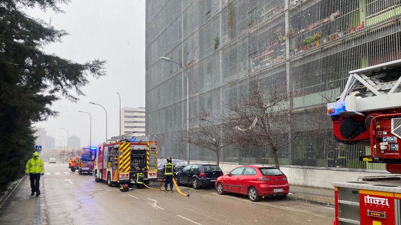 Los Bomberos del Ayuntamiento de Madrid han extinguido rápidamente el incendio