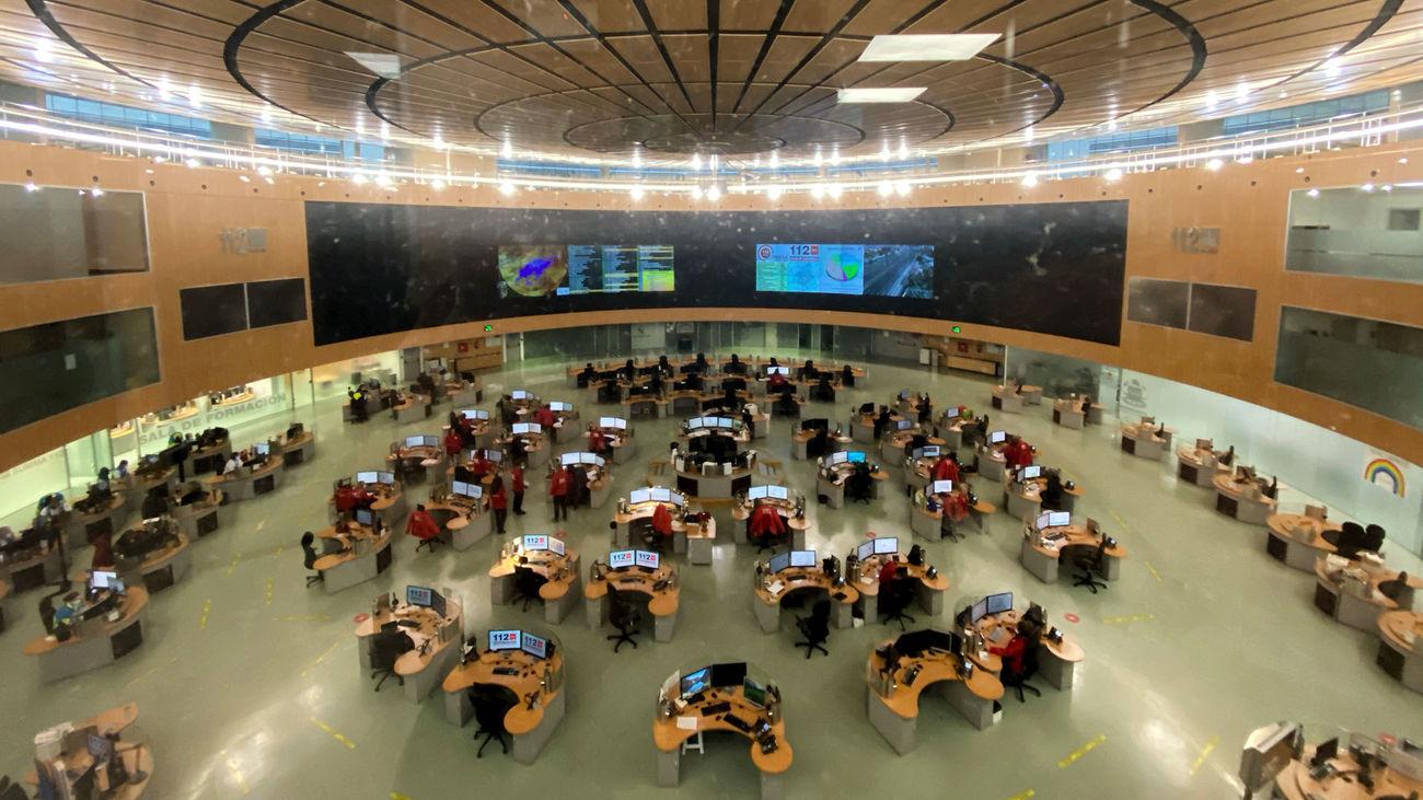 Sala de la sede de Emergencias Madrid