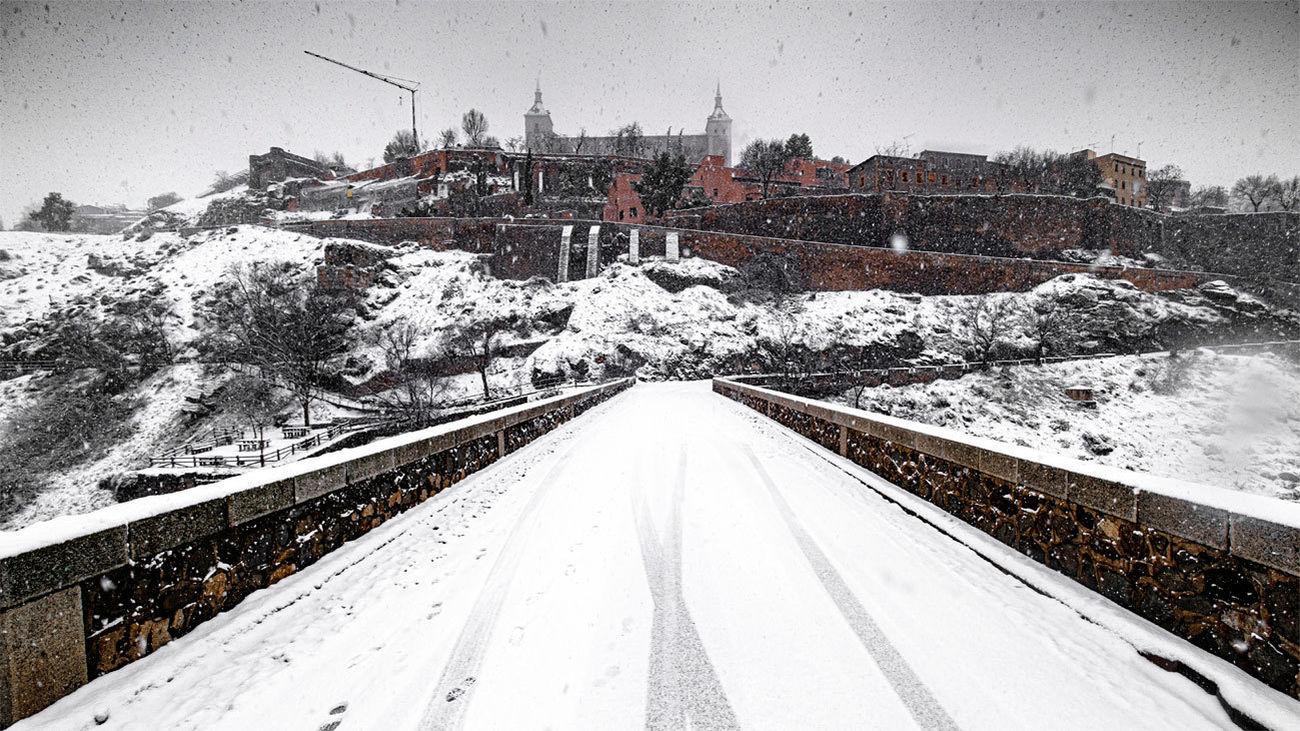 Toledo tras la fuerte nevada