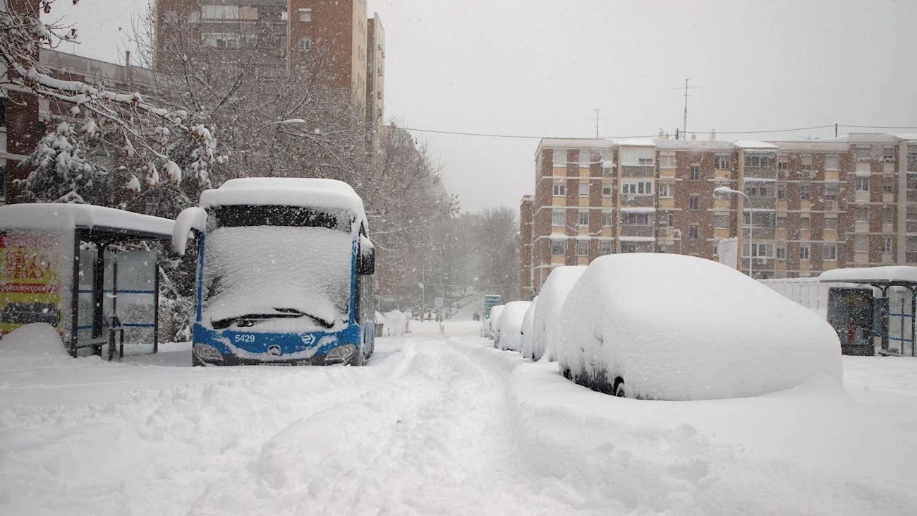 Autobuses interurbanos suspendidos