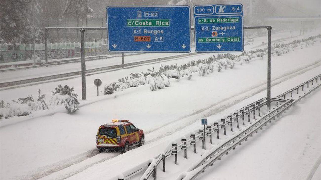 Filomena deja una nevada histórica en Madrid