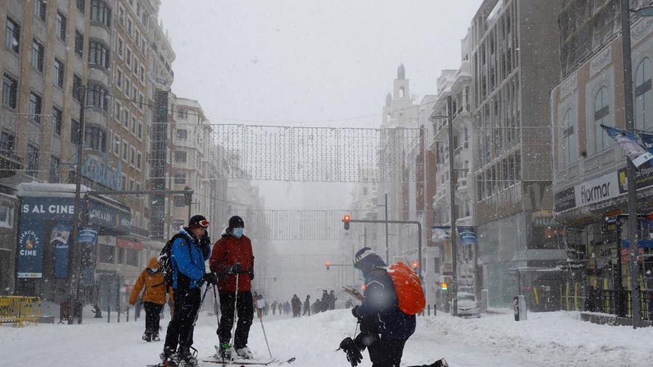Gran Vía nevada