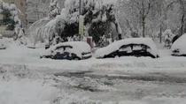 Impresionante nevada en Fuenlabrada
