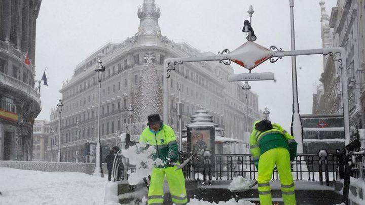 Así vivimos minuto a minuto la gran nevada que dejó Filomena el 9 de enero en Madrid