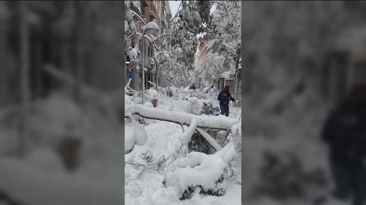 La calle Fuencarral, nevada como nunca antes la habías visto