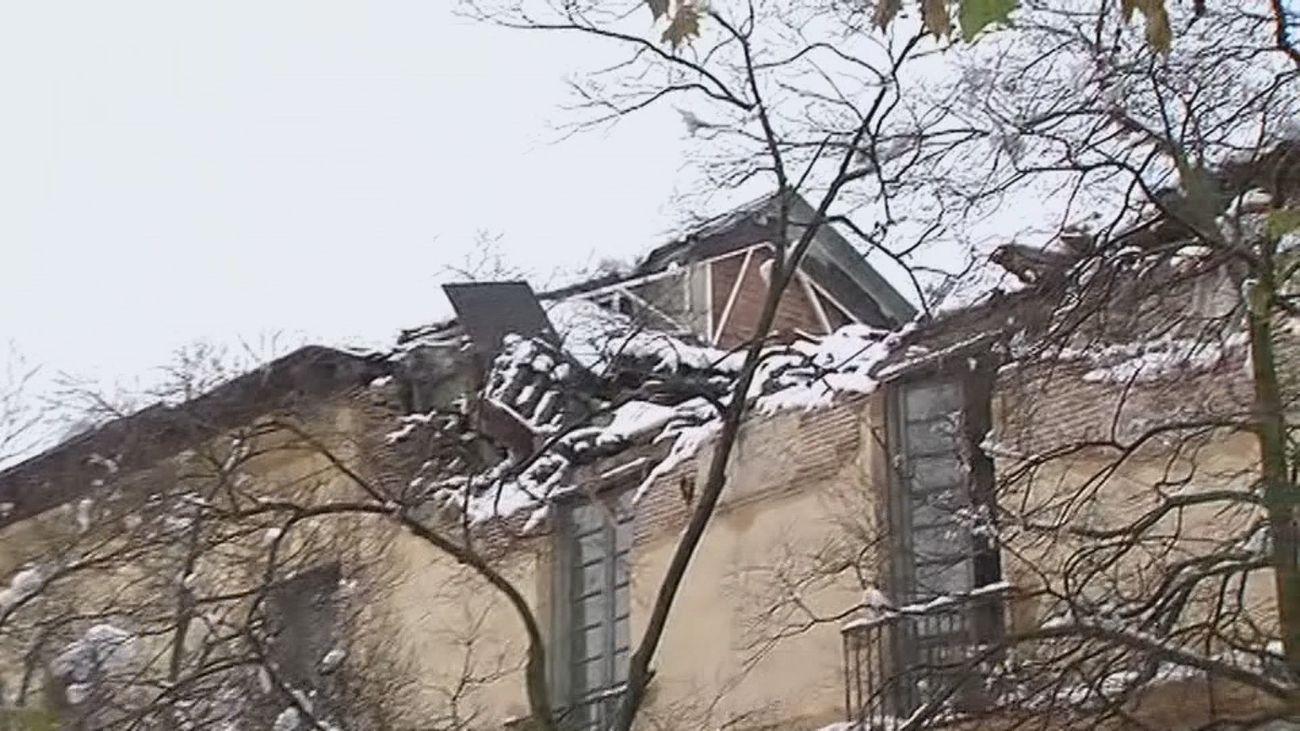 El tejado del centro cultural de Aranjuez se desploma por el temporal