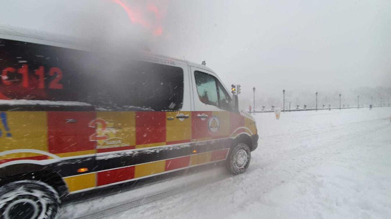 Emergencias 112 durante la nevada que ha dejado Filomena