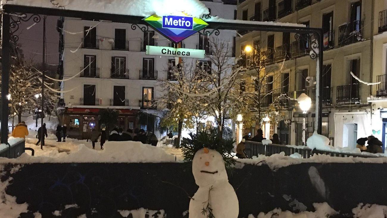 Plaza de Chueca nevada