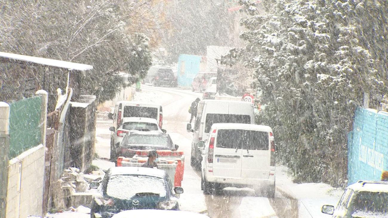 La nieve ha afectado con dureza a la Cañada Real