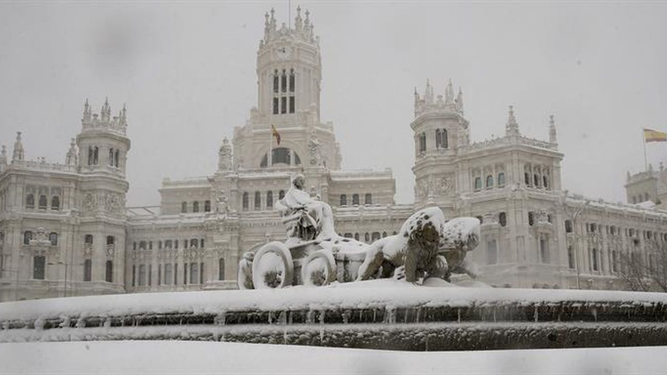 El paso de Filomena por Madrid